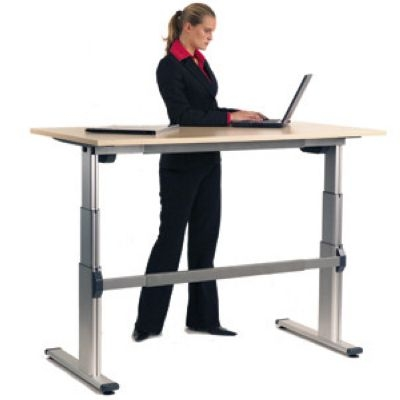 electric height adjustable desks silvermans office furniture cambridge. Black Bedroom Furniture Sets. Home Design Ideas