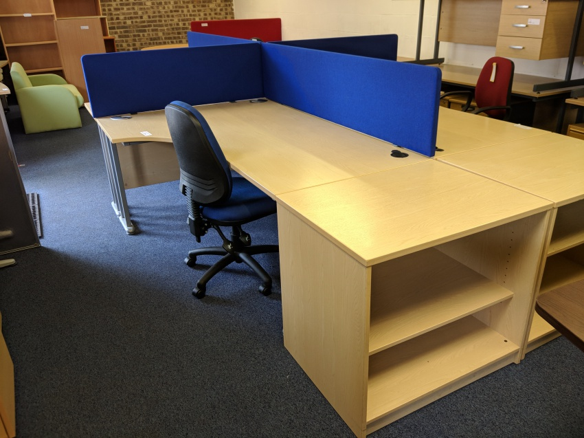 used crescent with storage silvermans office furniture cambridge rh silvermansofficefurniture co uk used office furniture for sale cambridge uk used office furniture cambridge ma
