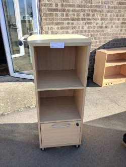 Storage Mobile bookcase with drawer