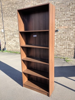 Storage Used walnut tall bookcase