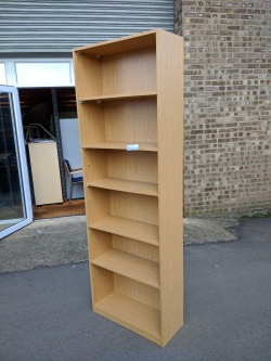 Storage Tall Oak Bookcase