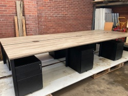 Desking 6 Person Maple Bench